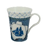 Tazza (Mug) - Decoro Veliero in Porcellana