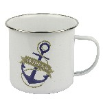 Tazza mug in metallo smaltato - Skipper