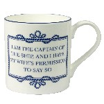 Tazza (Mug) in porcellana - I AM THE CAPTAIN OF...