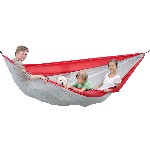 Amaca da escursione - Silk Traveller  (red-silver) - XXL