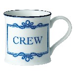 Tazza Crew in porcellana - Ø 8 cm