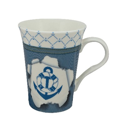 SC 3976 Tazza (Mug) - Design Ancora/Salvagente in Porcellana Sea Club