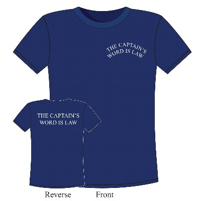 NA 6374XXL - T-Shirt The Captain's Word is Law in cotone blu - Taglia XXL