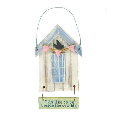 NA 52671 - Cabina da spiaggia in legno I do like to be beside... - H tot 12 cm