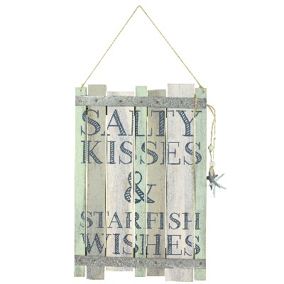 NA 55832 - Decoro pensile Salty Kisses & Starfish Wishes - 27,5x18,5 cm