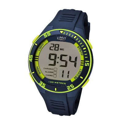 Orologio digitale Active - Blu navy/lime - Ø 4,7 cm