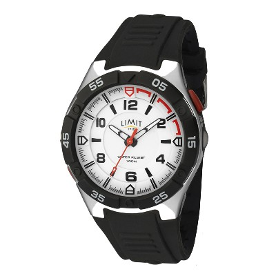 Orologio analogico Sports Torch - Nero/arancione - Ø 4,5 cm